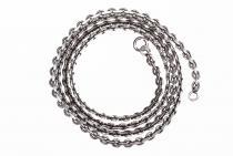 Dunkle Wikinger Halskette ~ THORA ~ 56 cm - Vintage Silber - Windalf.de