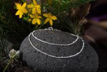 Zarte Halskette ~ KIANA ~ l: 45 cm - Silber - Windalf.de
