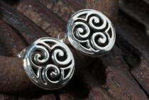 Ohrringe ~ AYA ~ Keltische Triskele - Silber - Windalf.de