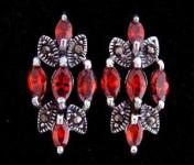 Ohrringe ~ AKIRA ~ Crystals - Roter Kristall - Silber - Windalf.de