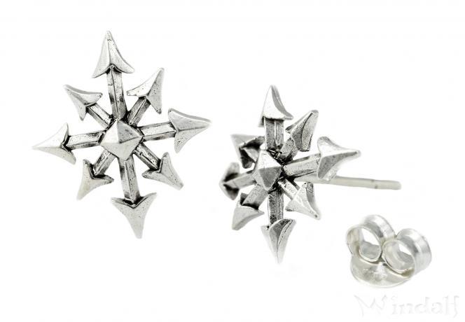 großer Lagerverkauf im Angebot moderne Techniken Ohrstecker ~ ERYS ~ Chaos Stern - Schmuck-Ohrringe - Silber