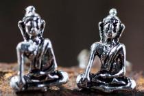 Ohrstecker ~ SIDDHARTA ~ Kleiner Buddha - 8 mm - Silber - Windalf.de