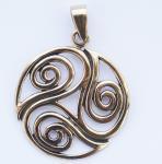 Anhänger ~ REYA ~ Keltisches Triskel - Bronze - Windalf.de