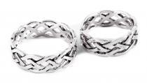Ring ~ ÂKASA ~ h: 0.7 cm - Keltischer Knoten - Band der Freundschaft - Silber - Windalf.de