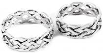 Ring ~ ÂKASA ~ 7 mm - Keltischer Knoten - Band der Freundschaft - Silber - Windalf.de