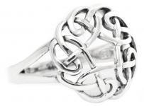 Celtic Irischer Ring ~ NAINA ~ 15 mm - Keltische Blume des Lebens - Silber - Windalf.de