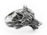 Wolfsring ~ GERÎ ~ Odins Wolf - Antik Silber - Windalf.de