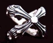 Asatru Ring ~ GEBO RUNE ~ h: 1.8 cm -  Ritter Ring - Vintage Silber - Windalf.de