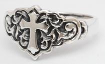 Mittelalter Ring ~ LYCIA ~ Kreuz & Ornamentik - Silber - Windalf.de