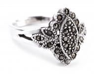 Statement Ring ~ DANIA ~ 1.5 cm - Blume des Mittelalters - Silber - Windalf.de