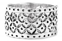 Breiter Wikinger Damen Ring ~ SVENJA ~ h: 1.3 cm - Byzantinischer Mittelalter-Ring - Silber - Windalf.de