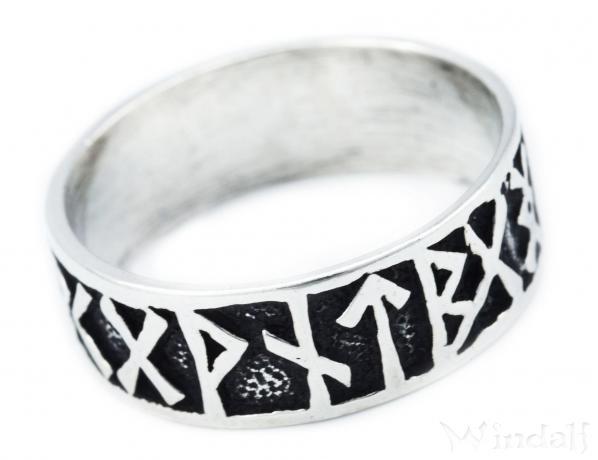 Wikinger Ring Futhark H 0 9 Cm Runen Silber Viking Ringe
