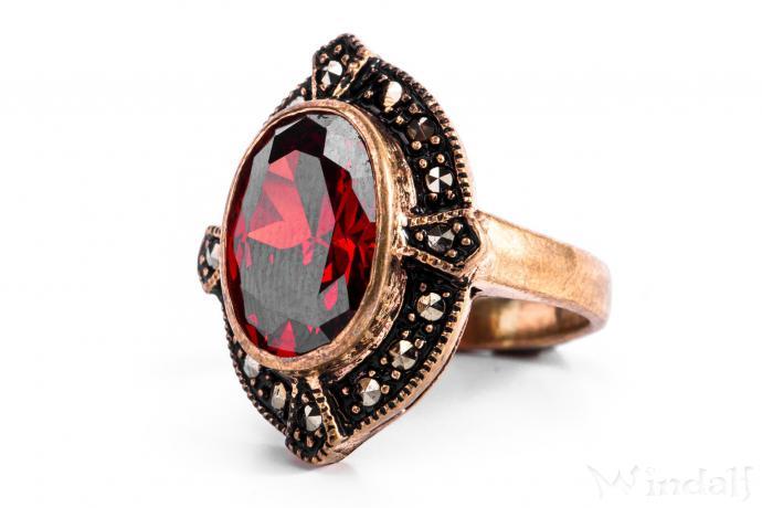 mittelalter ring al za roter kristall mittelalter schmuck bronze ringe mit steinen. Black Bedroom Furniture Sets. Home Design Ideas