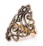 Mittelalter Ring ~ MELIÁ ~ Mittelalter-Schmuck - Spiralmuster - Bronze - Windalf.de
