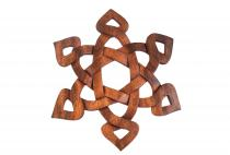 Wanddeko ~ RUNENZAUBER ~ b: 30 cm - Celtic - Handarbeit aus Holz - Windalf.de