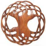 Pagan Wandbild ~ MIRA ~ Ø 30 cm - Holzbild Lebensbaum - Weltenesche - Handarbeit aus Holz - Windalf.de
