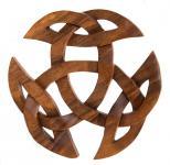 Wandbild ~ ARWAIN ~ Offene Dreifalt - Celtic - 22 cm - aus Holz - Windalf.de