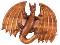 XL Drachen Wandbild ~ FURIMOR ~ 50 cm - Dragon Wandrelief - Handarbeit aus Holz - Windalf.de