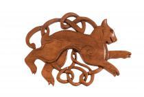 Celtic Wandbild ~ BYGUL ~ h: 25 cm - Freyas Katze - Handarbeit aus Holz - Windalf.de
