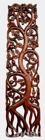 gro e wanddekoration sya lebensbaum handgearbeitet