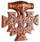 Wikinger Wandbild ~ THORAN ~ 23 cm - Thorhammer mit Knoten - Vikings Wandrelief - Handarbeit aus Holz - Windalf.de