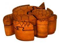 Zauberdose Schildkröten - aus Holz - Windalf.de