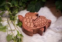 Schmuckdose ~ NAMY ~ Schildkröten - handgearbeitet - aus Holz - Windalf.de