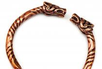 Großer Armreif Männer ~ THORDALL ~ Ø 6.5 cm - Wikinger Drachen - Hochwertige Bronze - Windalf.de