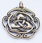 Anhänger ~ NAIDA ~ Keltische Dreiheit - Bronze - Windalf.de