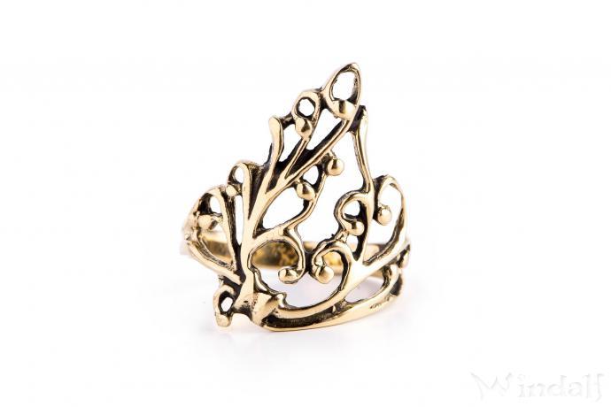 Ring  ~ ALANI ~ Elfenflügel - Bronze - Windalf.de
