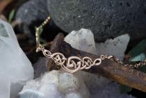 Irisches Collier  ~ CELINE ~ Keltische Knoten Halskette - Celtic Halsschmuck - Vintage Bronze - Windalf.de