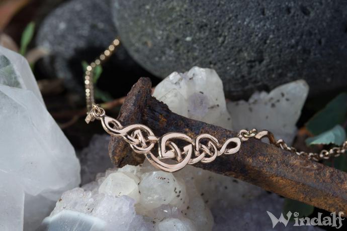 Celtic Collier  ~ CELINE ~ h: 1.5 cm - Keltische Knoten - Pagan Halsschmuck - Bronze - Windalf.de