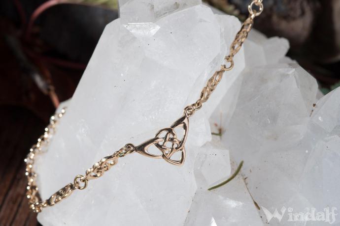 Collier ~ TRINY ~ h: 1.3 cm - Keltische Dreiheit - Celtic Halsschmuck - Bronze - Windalf.de