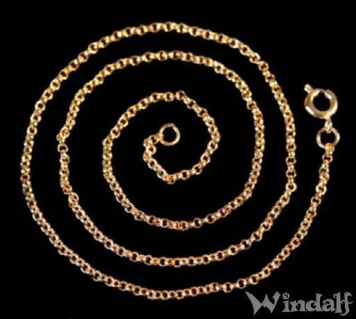 Feine lange Wikingerkette ~ NARICANA ~ l: 71 cm - Bronze - Windalf.de