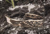 Armreif ~ THYRON ~ Ø 6.5 cm - Schwarzer Drache - Hochwertige Bronze - Windalf.de