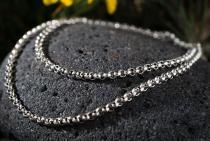 Wikinger Halskette ~ RAGNOR ~ 51 cm - Erbskette - Vintage Silber - Windalf.de