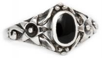 Ring ~ LUCÎA ~ 1 cm - Glücks Ring - Schwarzer Onyx - Silber - Windalf.de
