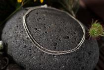 Feine historische Halskette ~ NORVINA ~ l: 50 cm - Silber - Windalf.de