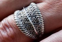 Wikinger Ring ~ ALVIAN ~ Größenverstellbar - Silber - Windalf.de