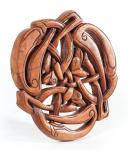Deko Holzbild ~ WILDE JAGD ~ b: 22 cm -  Keltische Hunde - Handarbeit aus Holz - Windalf.de
