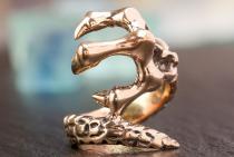 Großer Ring ~ DRACON ~ 28 mm - Drachenkralle - Bronze - Windalf.de