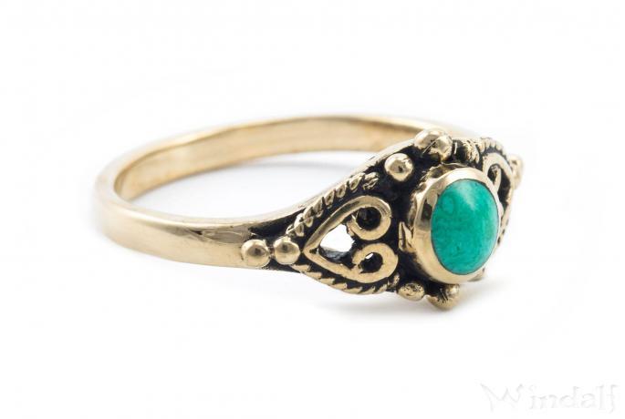Türkis-Ring ~ EVIE ~ Mittelalter-Ring - Bronze - Windalf.de