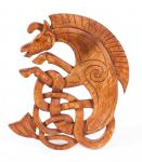 Wandbild ~ EPONA ~ h: 25 cm - Keltisches Pferd - Handarbeit aus Holz - Windalf.de
