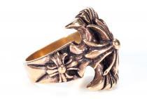 Mittelalter Ring ~ ARNOS ~ Kreuzritter - Bronze - Windalf.de