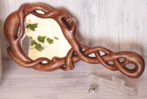 Handspiegel ~ FAIRY ~ Zauberwurzel ~ 32 cm - Spiegel Keltischer Knoten - Handarbeit aus Holz - Windalf.de