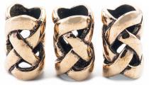 Bartperle & Haarschmuck ~ NEMETONA ~ 1.5 cm - Celtic - Bronze - Windalf.de