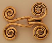 Keltische Gewandschliesse ~ FINJA ~ Spirale des Lebens ~ groß - Bronze - Windalf.de