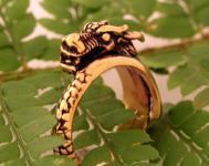 Wikinger Ring Drache ~ JORMUN ~ 8 mm - Midgardschlange - Vintage Bronze - Windalf.de