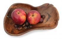 Hobbit Deko Holz Schale ~ MALVA ~ b: 29 cm - Snack Schmuck Teakschale - Handarbeit aus Wurzelholz - Windalf.de