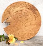 Holzteller ~ WILDE JAGD ~ Ø 35 cm - Wanddeko - Celtic - Handarbeit aus Wurzelholz - Windalf.de